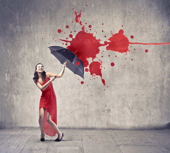 Umbrella Protection - Stock Photo - Images