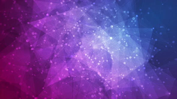 Blue Purple Abstract Technology Polygons