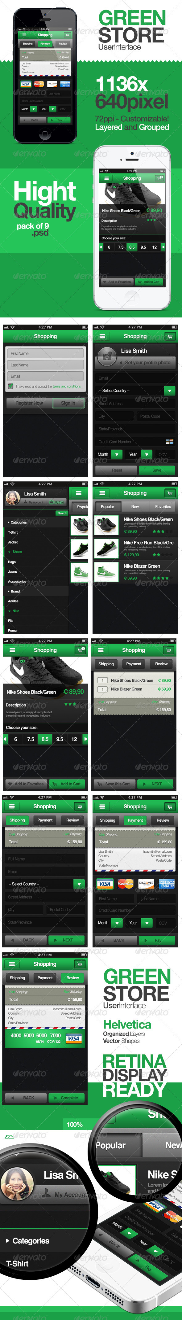 Green Store - Shopping User Interface - User Interfaces Web Elements
