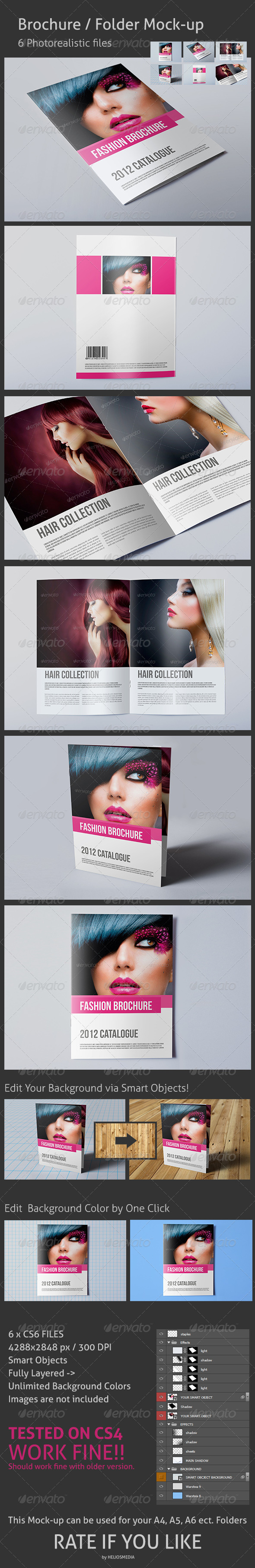 Brochure / Folder Mock-up  - Brochures Print