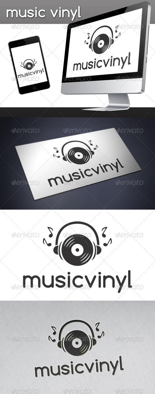 Music Vinyl Logo - Symbols Logo Templates