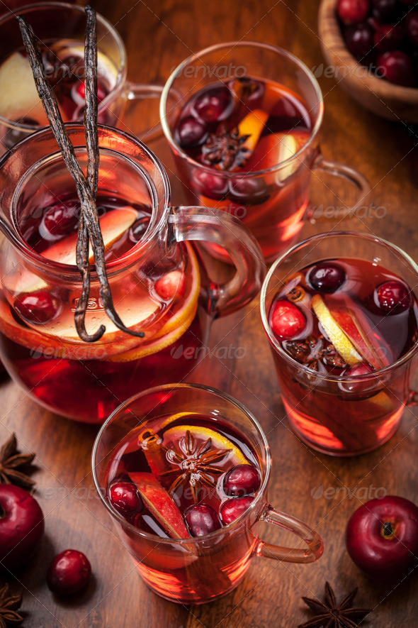 Hot punch for winter and Christmas - Stock Photo - Images