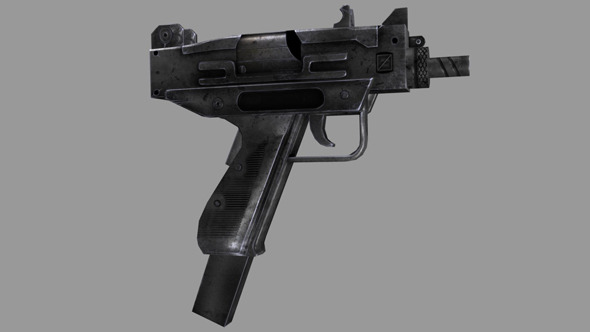 Low Poly Gun - 3DOcean Item for Sale
