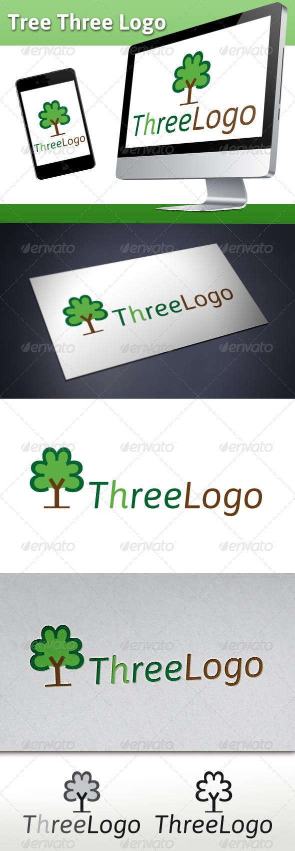 Tree Three Logo - Nature Logo Templates
