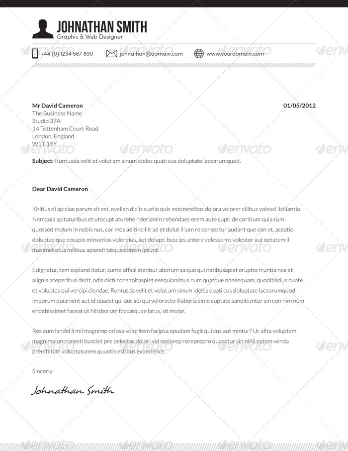 resume cv cover letter set 01 by boxedcreative graphicriver