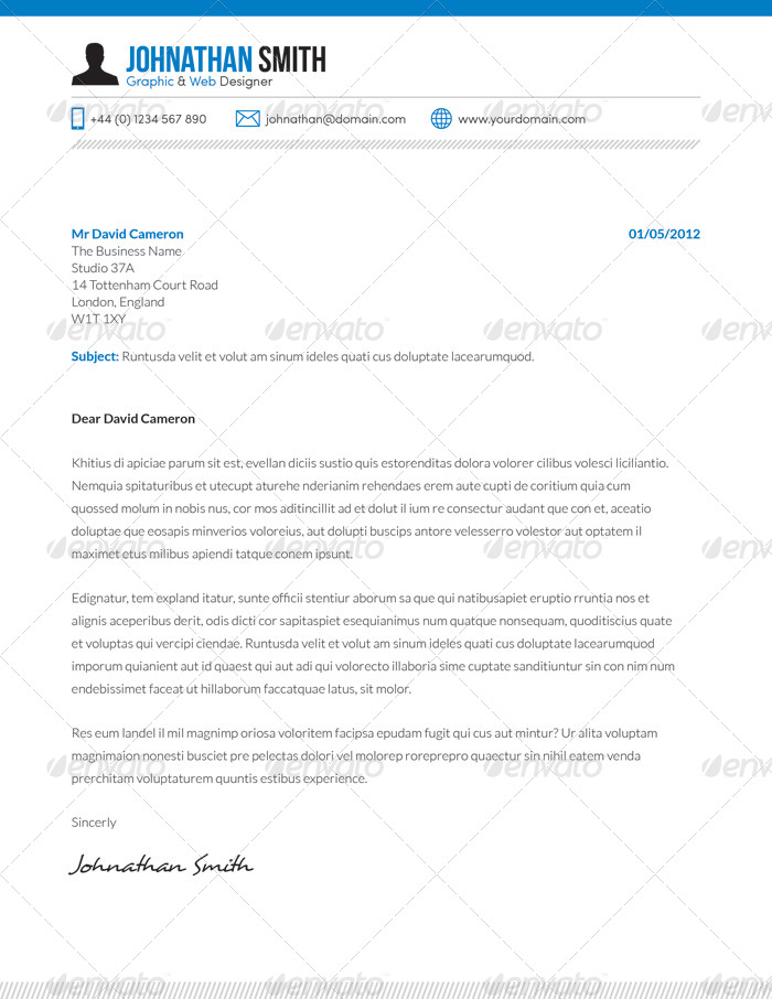Resume / CV + Cover Letter Set 01 by BoxedCreative | GraphicRiver