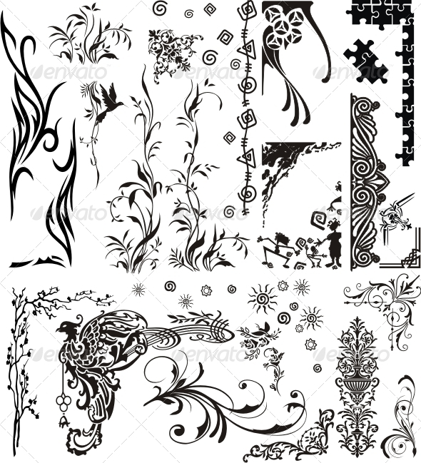 Various Ornaments - Borders Decorative