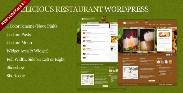 Delicious Restaurant Wordpress - Preview