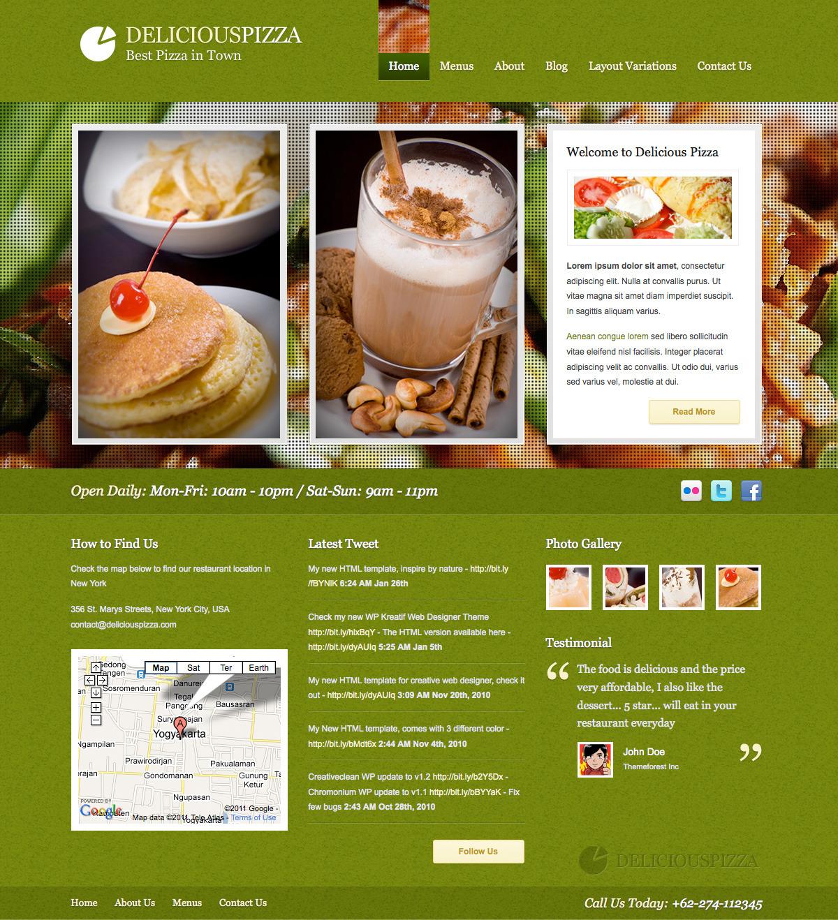 Delicious restaurant wordpress by plentong themeforest
