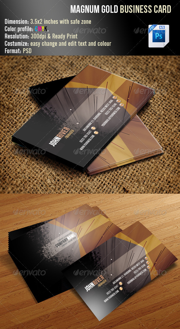 Magnum Gold Business Card - Creative Business Cards