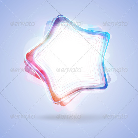 Vector glowing color star - Decorative Vectors