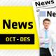 October - December Clean Newsletter V4 - GraphicRiver Item for Sale