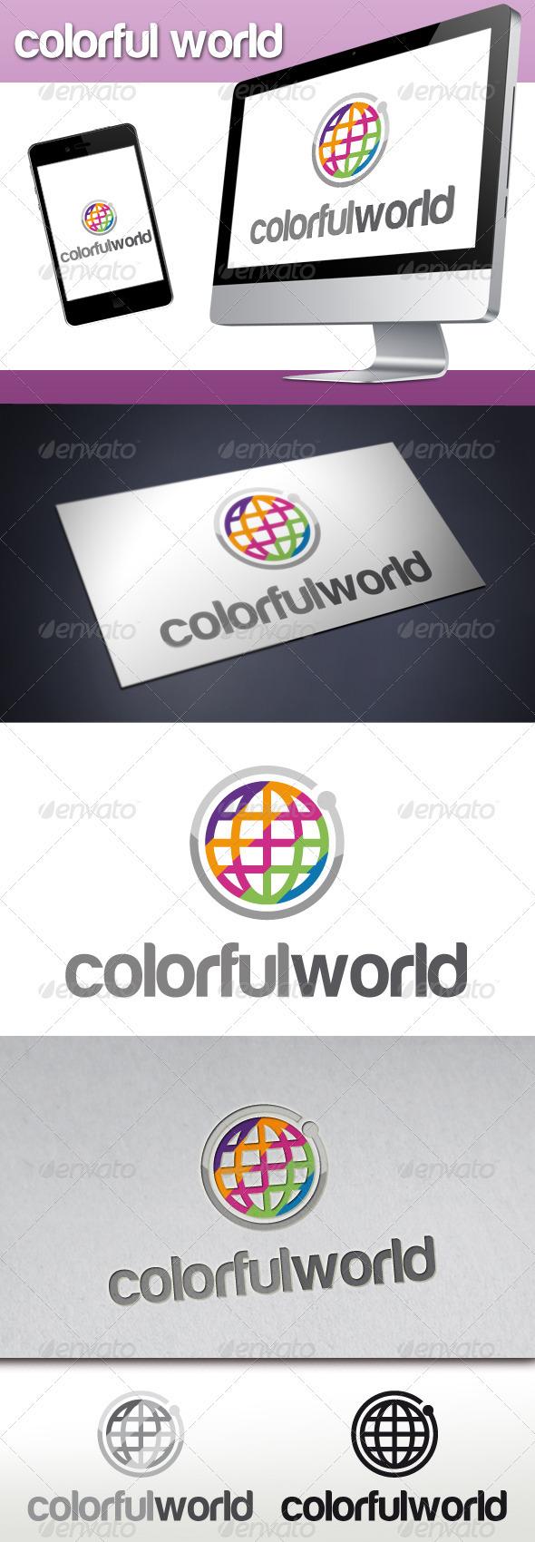 Colorful World Logo - Symbols Logo Templates