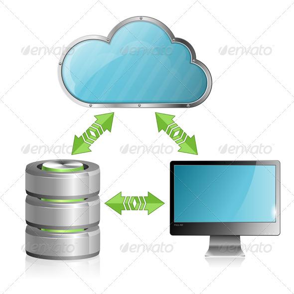 Cloud Computing Concept - Computers Technology