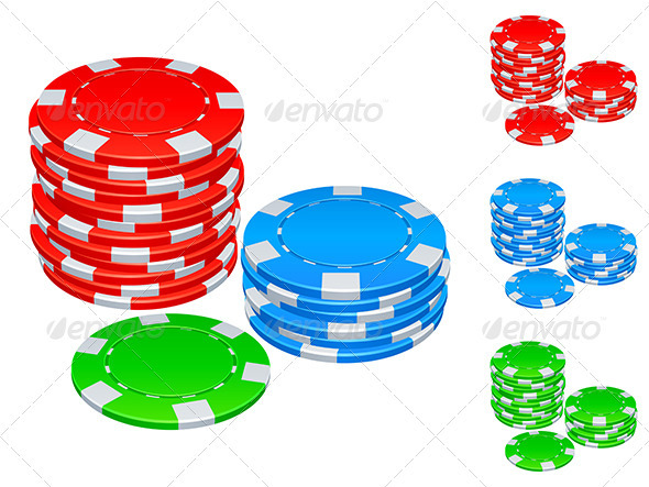 Gambling Chips - Objects Vectors