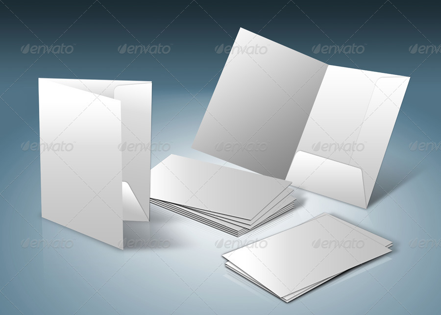 a4 document folder mock