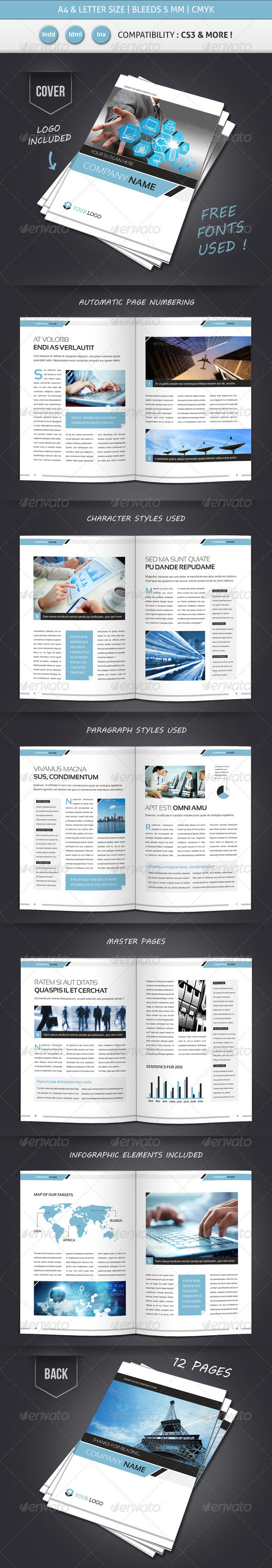 Corporate & Business BROCHURE TEMPLATE A4 & Letter - Corporate Brochures