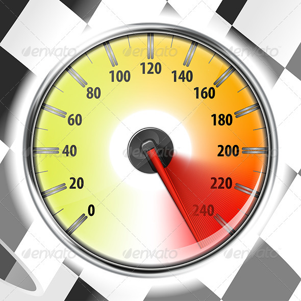 Speedometer with Flag