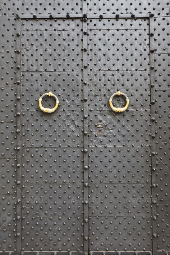 medieval door  - Stock Photo - Images