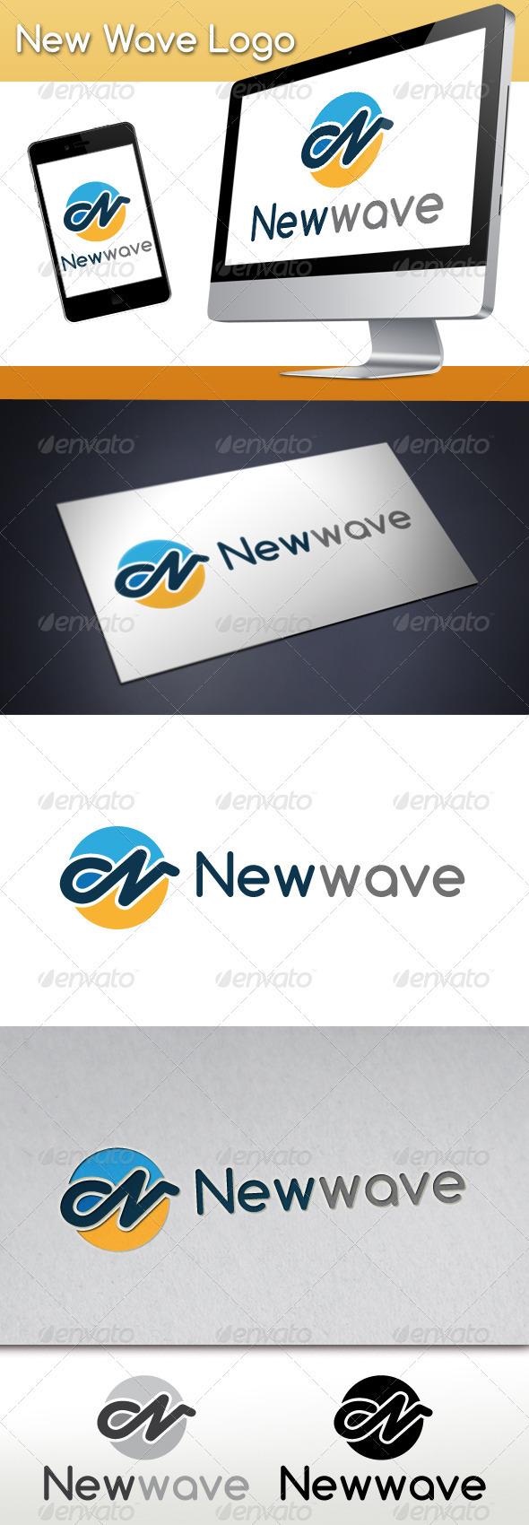 New Wave Logo - Letters Logo Templates