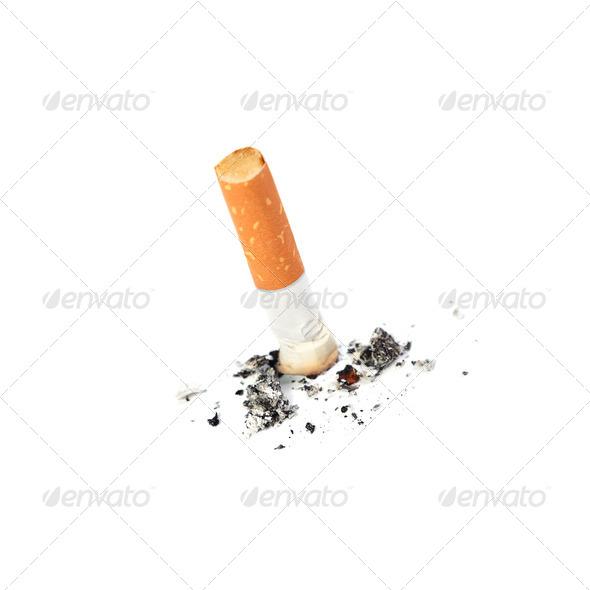 Extinguished cigarette - Stock Photo - Images