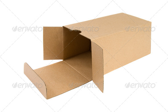 Open cardboard box. - Stock Photo - Images
