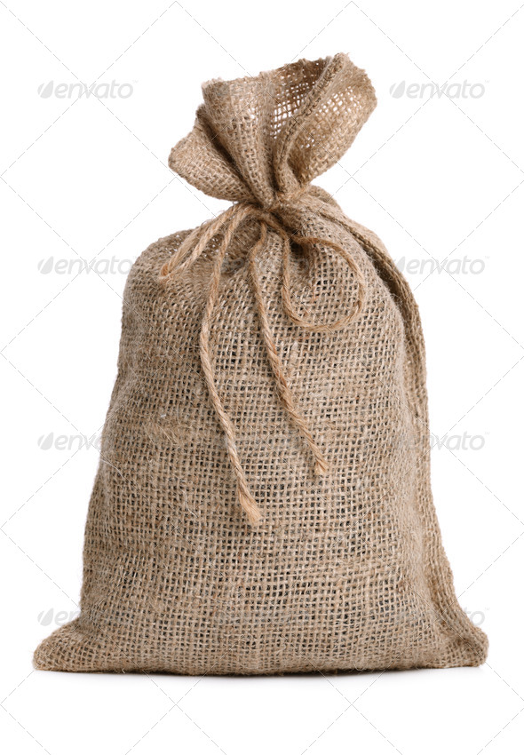 Burlap sack - Stock Photo - Images