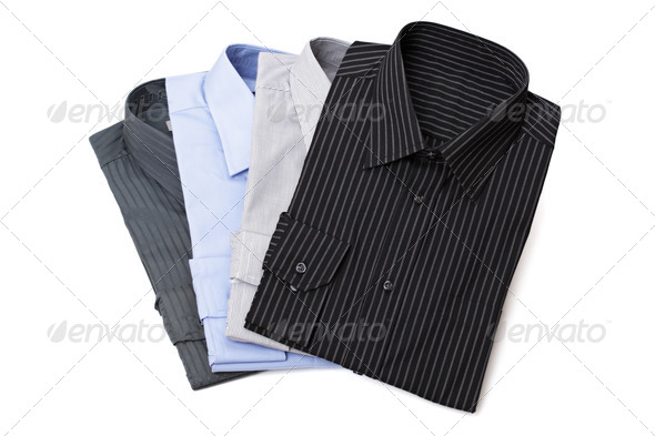 New men's dress shirts - Stock Photo - Images