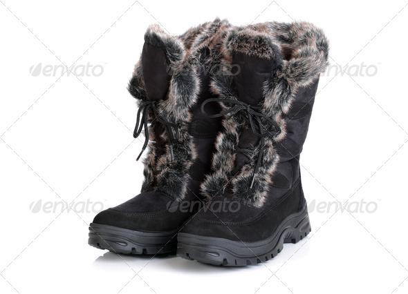 Winter snow boots - Stock Photo - Images