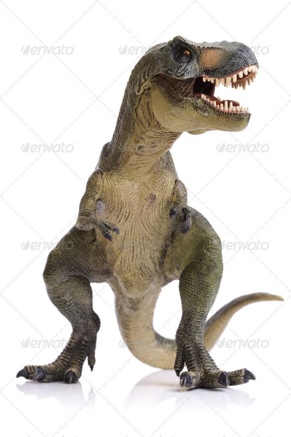 Tyrannosaurus Rex dinosaur - Stock Photo - Images