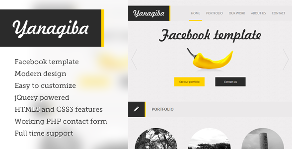 Yanagiba - spicy facebook template - Creative Site Templates