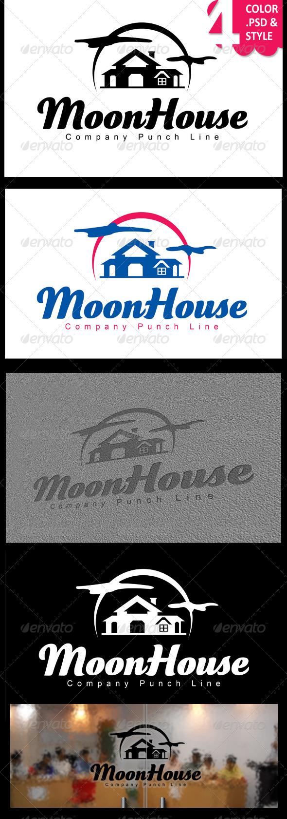 Moon House - Nature Logo Templates