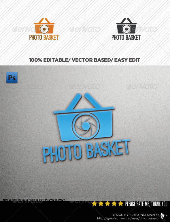 Photo Basket Logo Template - Objects Logo Templates