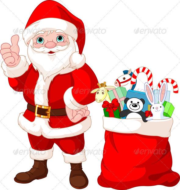 Santa Claus and gifts - Christmas Seasons/Holidays