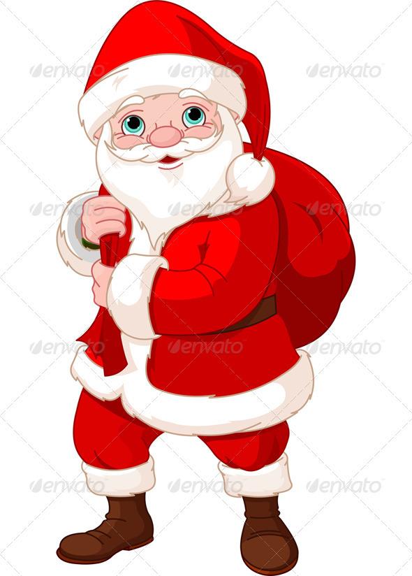 Santa Claus with a Bag  - Christmas Seasons/Holidays