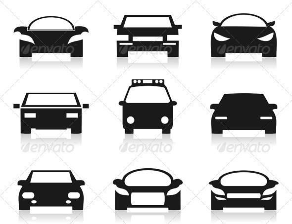 Car Icon 2 - Man-made Objects Objects