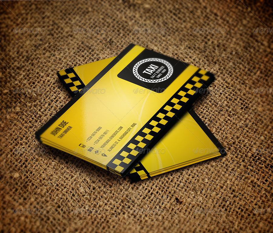 Taxi Business Card By OWPictures