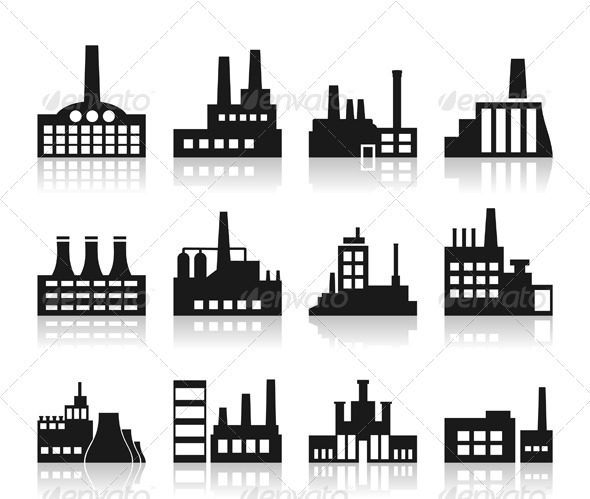 Factory Icon - Buildings Objects