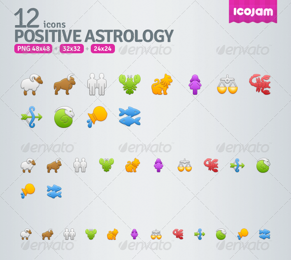 12 Positive Astrology icons - Web Icons