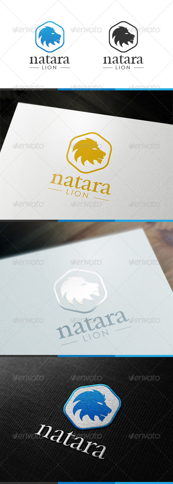 Natara Lion Logo - Animals Logo Templates