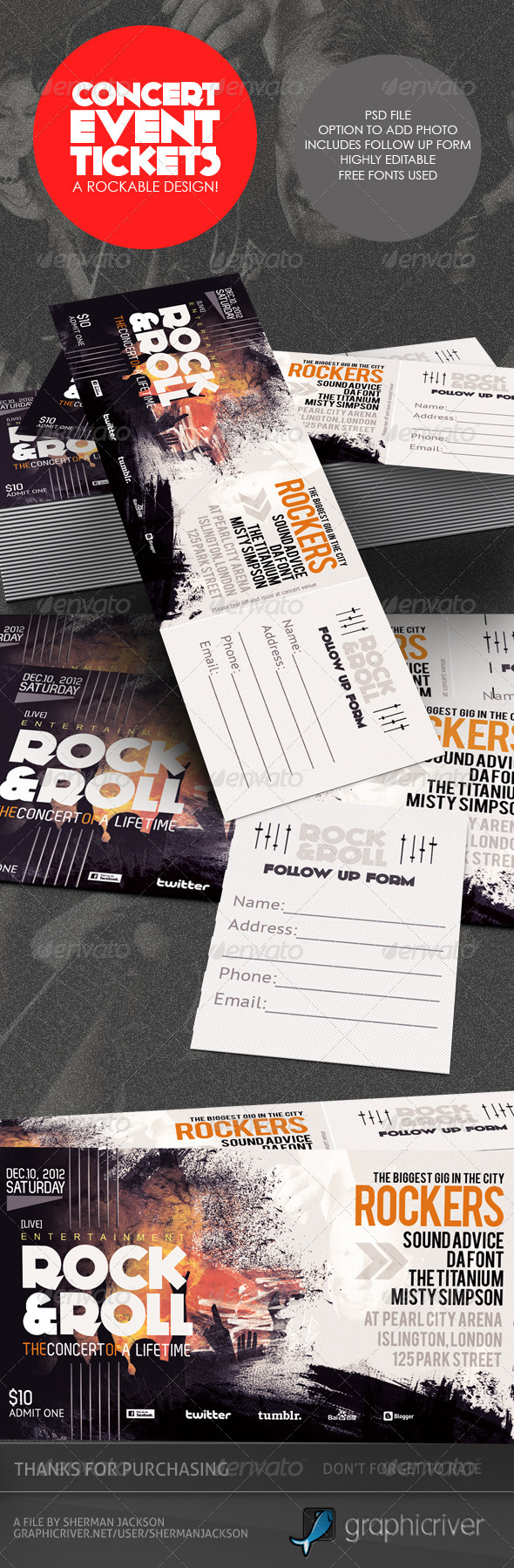 GraphicRiver  How To Design A Ticket For An Event