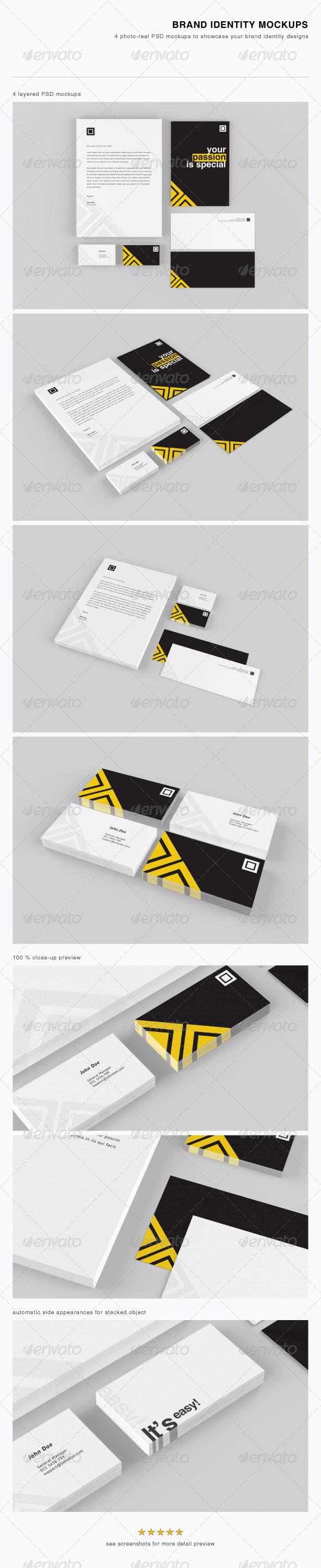 Brand Identity Mockups - Stationery Print