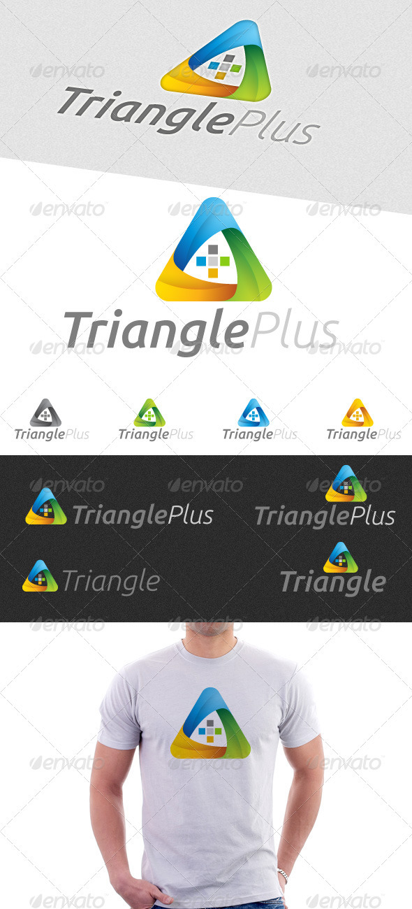Triangle Plus Logo - Symbols Logo Templates