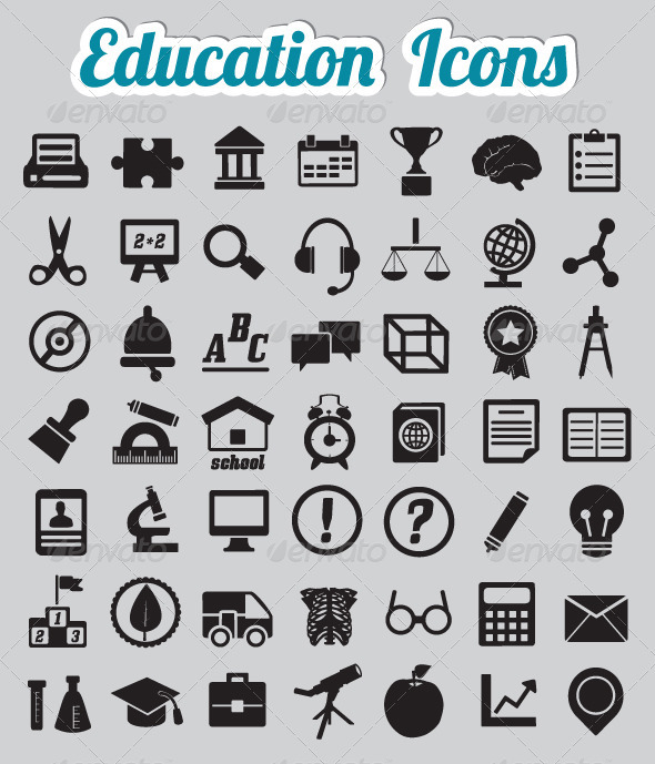 Set of 50 Education Icons  - Miscellaneous Icons