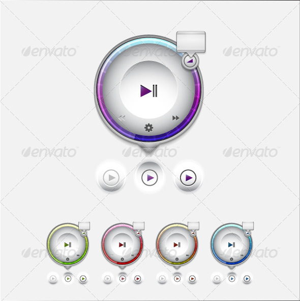 Multimedia Player UI Tooltip - Technology Conceptual