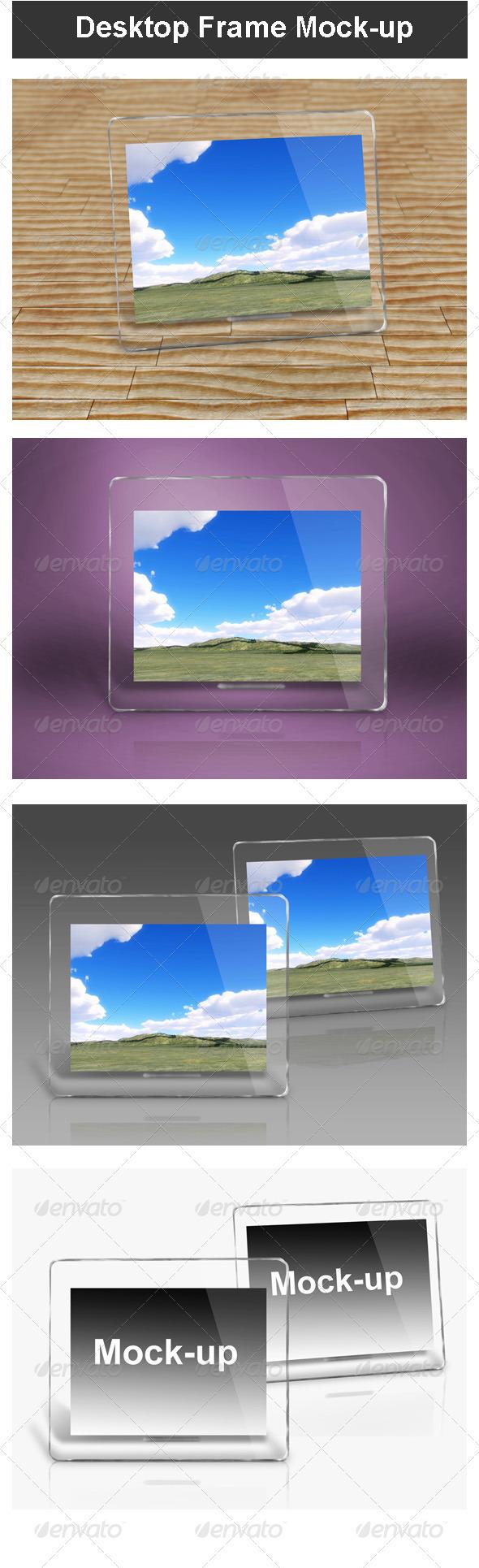 Desktop Frame Mock-up - Miscellaneous Product Mock-Ups