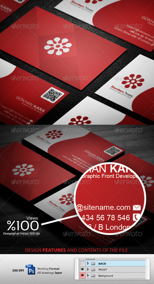Reding - Business Cardvisid - Corporate Business Cards
