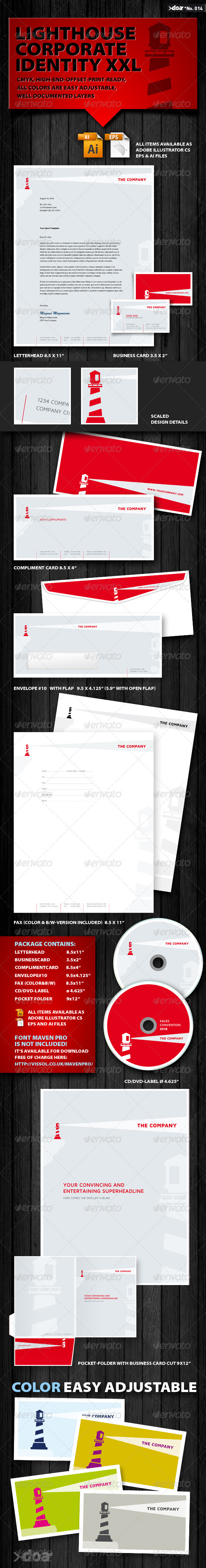 Lighthouse Corporate Identity XXL - Stationery Print Templates