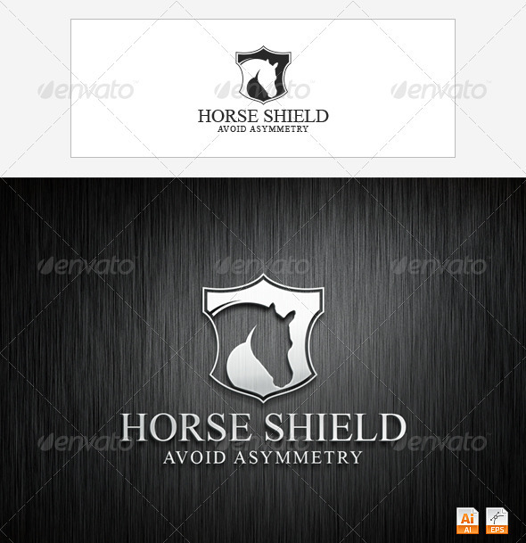 Horse Shield - Animals Logo Templates
