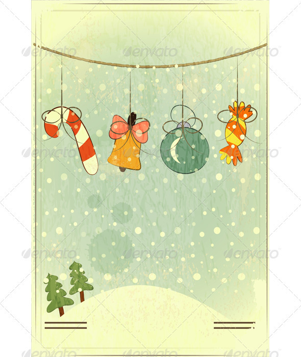 Christmas Retro Postcard - Christmas Seasons/Holidays